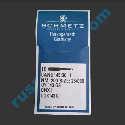 Мешкозашивочная игла Schmetz DNx1, № 25(200)